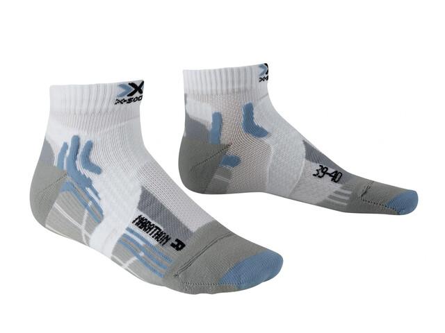 X-Socks W's Marathon Socks White/Sky Blue